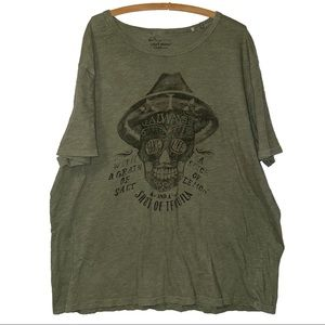 Lucky Brand Skull Tequila Saying T Shirt